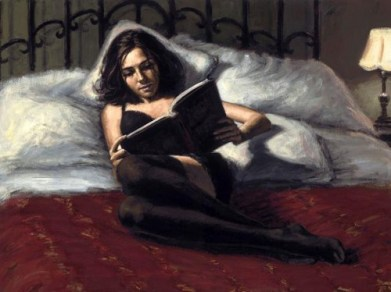woman-reading-in-bed-painting-by-fabian-perez